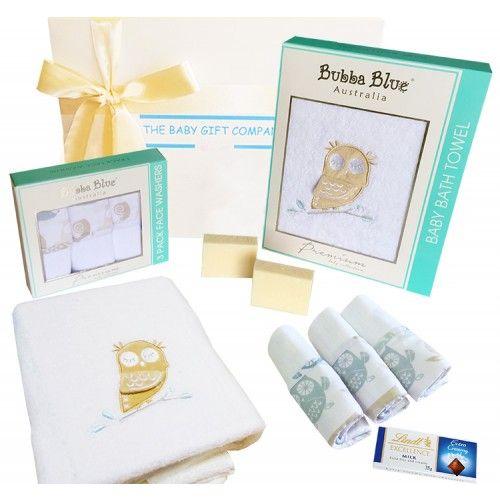 Premium Owl Bath Baby Gift Box