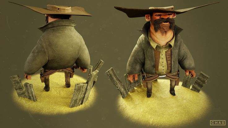 ArtStation - Gunslinger Low Poly, Chas Elterman