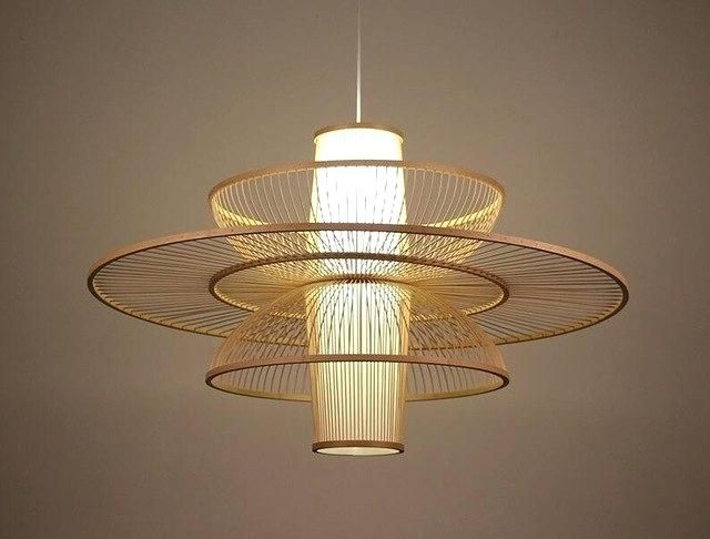Lighting Pastoral Rattan Pendant Lamp Wooden Bamboo Restaurant