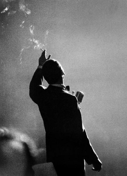 Frank Sinatra in concert at the Sporting Club, Monte Carlo, June 1958.