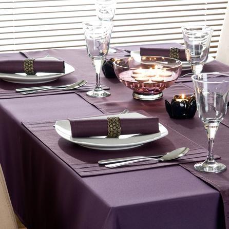 Purple Spectrum Collection Tablecloth I Love Purple