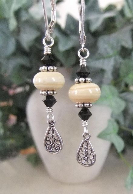 Lampwork Filigree Earrings by JLynnJewels, via Flickr