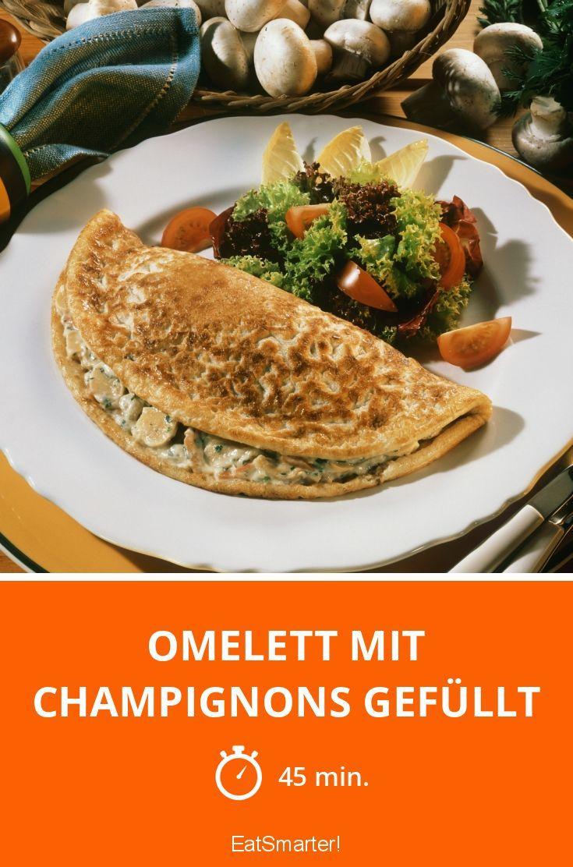 Omelett mit Champignons gefüllt - smarter - Zeit: 45 Min. | eatsmarter.de