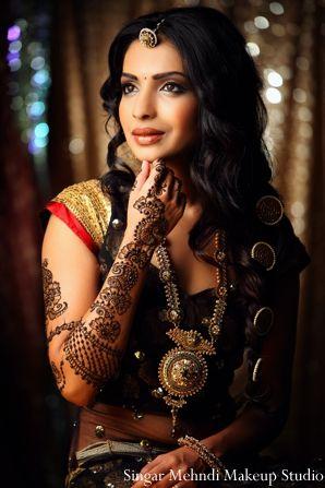 Indian wedding bridal makeup and hair inspiration shoot. Traditional wedding lengha for. Inspiration for bridal fashions- traditional wedding lenghas.