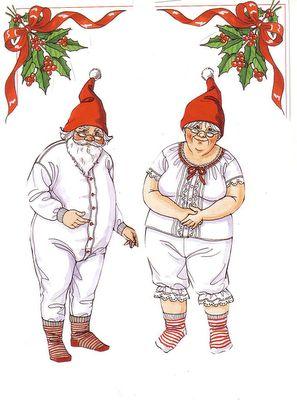 Bonecas de Papel: Papai Noel e Mamãe Noel NO paper dolls