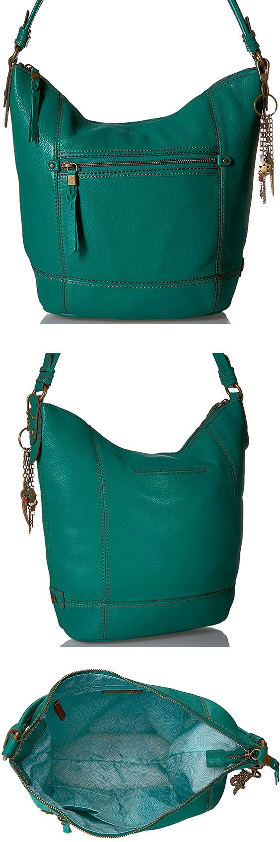 The Sak Sequoia Hobo Bag – Best Large Leather Hobo Shoulder Bag The Sequoia lives up to its namesake and comes in at a relatively large, inexpensive shoulder bag. With 11 styles to choose from, the right person will love the oversized design. #TheSAK #Leather #Baguette #Handbag #Hobo #ShoulderBag #Bag #Green