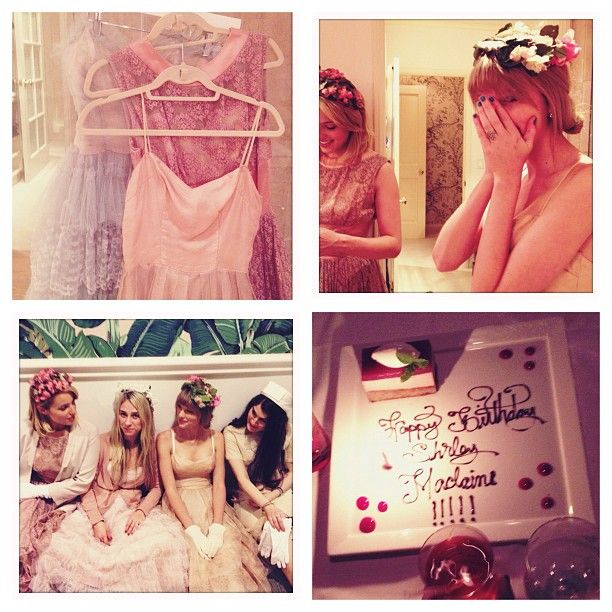 Taylor Swift bakes cupcakes with Selena Gomez and parties with Diana Agron
