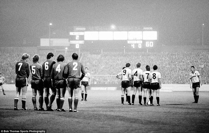 Versus Kaiserslautern, Uefa Cup, 1983.