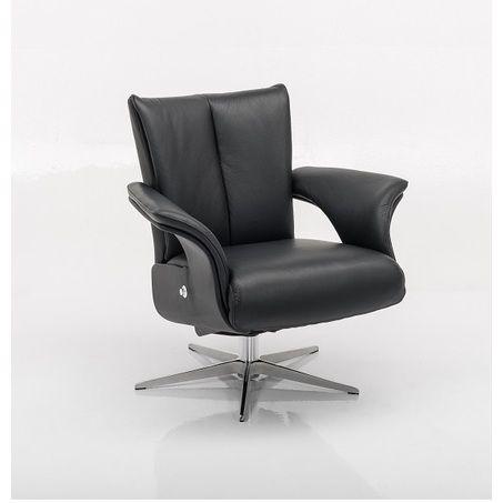 Fauteuil-5205-draaibaar-verstelbaar-verstelbare-rug-chromen-sterpoot-leder-stof-zwart-horizontale-stiksel-open-armleuning-modern-diepe-zit-relaxfauteuil-hjort-knudsen-utrecht-bilthoven