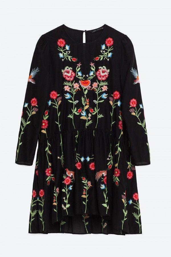 Zara Floral Embroidered Dress, £49.99