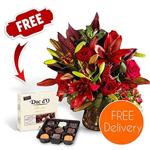 SendaBunch Fresh Christmas Flowers Delivered - Free UK Delivery - Red Christmas Fire Bouquet including Lilies,  No description http://www.comparestoreprices.co.uk/december-2016-3/sendabunch-fresh-christmas-flowers-delivered--free-uk-delivery--red-christmas-fire-bouquet-including-lilies-.asp
