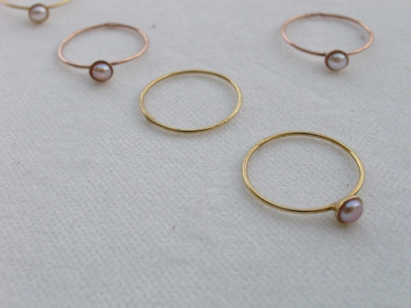 Silver rings,gold plated with pearl. B-Tal jewellery !!!!