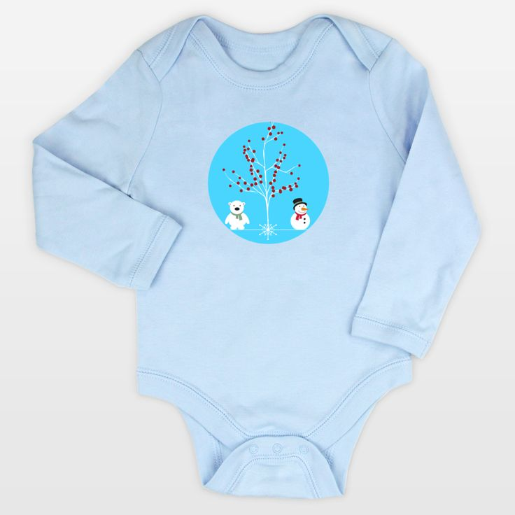 Shop for unique nursery art like the winterland Long-Sleeve Onesies by haroulita on BoomBoomPrints today!  Customize colors, style and design to make the artwork in your baby's room their own!