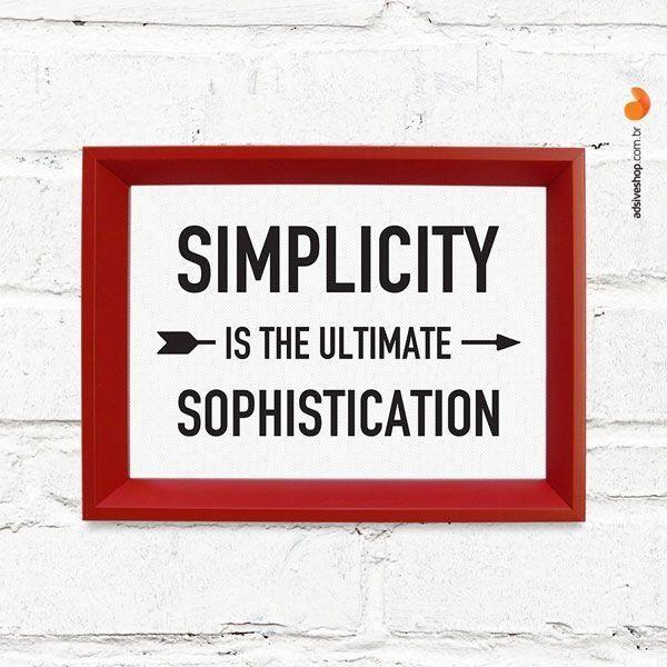 """Quadro Decorativo """"Simplicity"""" - Papel de Parede e Adesivos Decorativos - AdsiveShop"""
