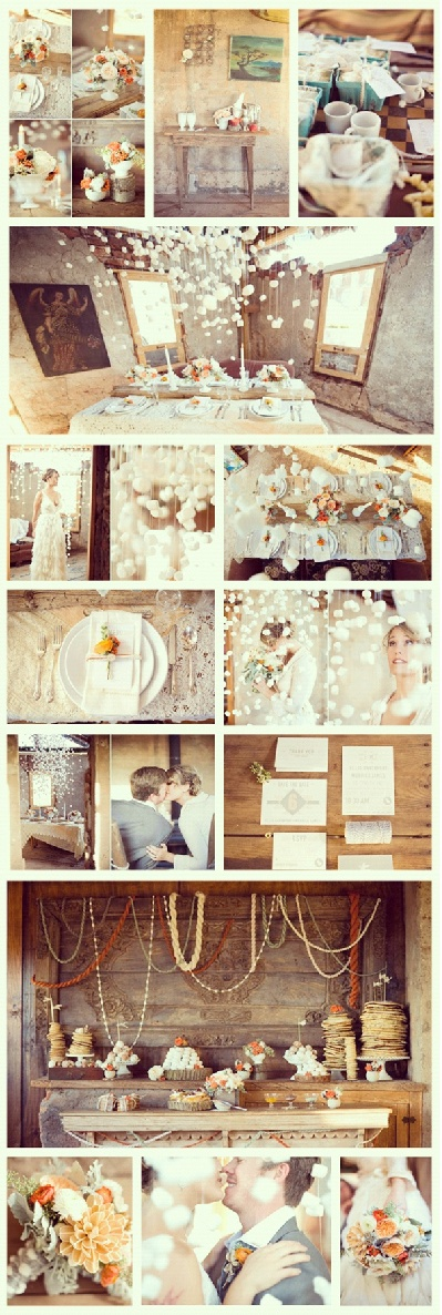 Mmm.. Completely in love with this winter wedding! Marshmallows as snow, DIY yarns, so magical and super budget friendly !  - Photo capturing by Ely Fair Photography
