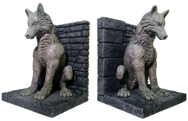 Protect your collected works of George R.R. Martin with style...and ferocity. The Stark family crypt is guarded by stone dire wolves, and these bookends are an accurate reproduction. Even if your home isn't a crypt, these will still look good in the library.