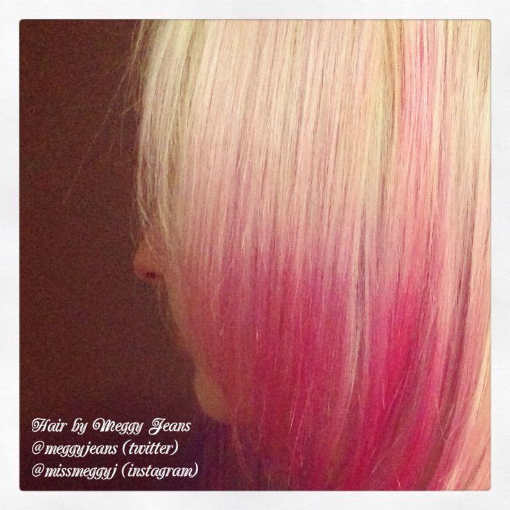 Balayage ombré in pink  Instagram @meggyjeans_  #hairbymeggyjeans #pink #hair #balayage #ombre #colour #hairstylist