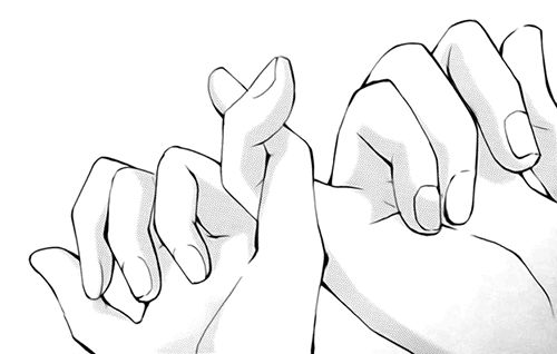 Me and my lil sister do this when its too hot to hold hands X3