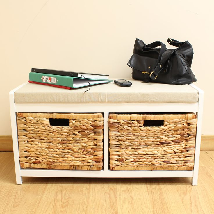 best seagrass wicker storage bench ideas picture