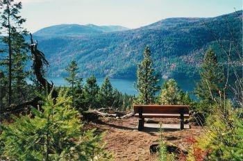overlooking Christina Lake