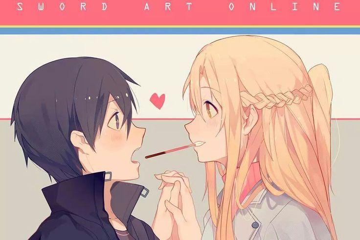 Sword Art Online, Asuna and Kirito