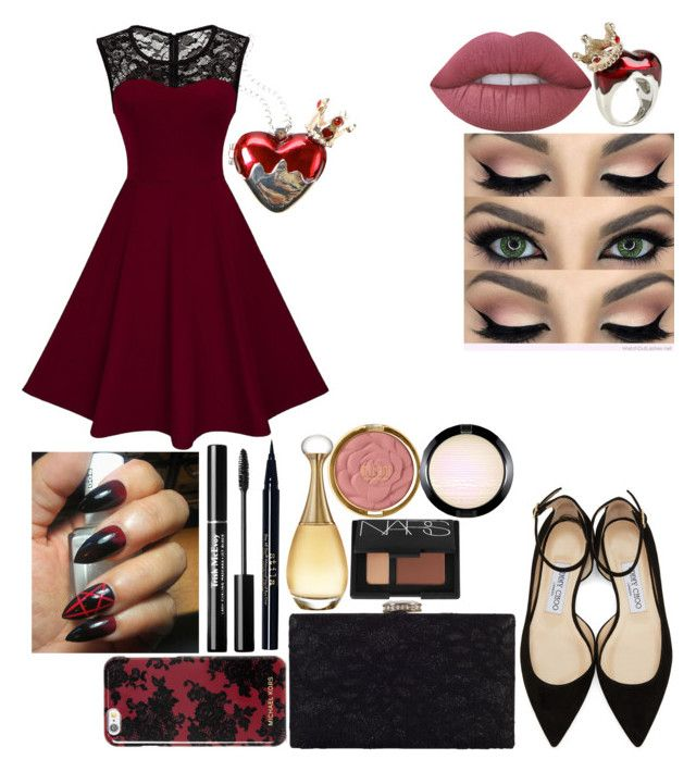 """🌹🔝♋🔝🌹"" by emmely201 on Polyvore featuring Disney, Jimmy Choo, Michael Kors, Chesca, Lime Crime, Stila, Christian Dior, NARS Cosmetics, Milani and MAC Cosmetics"