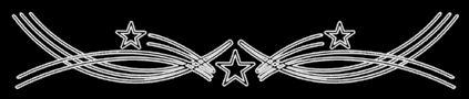 Tres estrellas rodeadas de arcos circulares ascendentes y descendentes by http://www.lucesdenavidad.com/