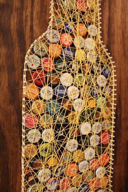 DIY Bottle Cap String Art Tutorial   Sam Rhymes with Ham