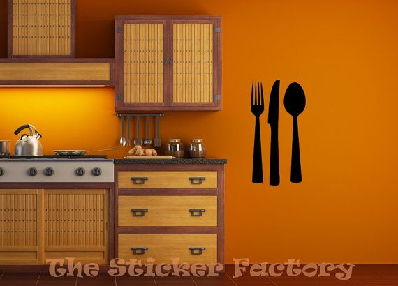 Cubiertos cuchillo tenedor y cuchara de por TheStickerFactory