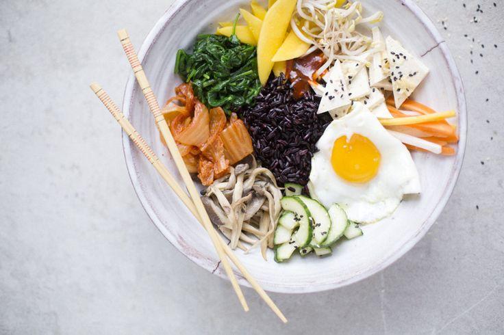 Bi Bim Bap / Green KitchenVegetarian Bibimbap, Greenkitchenstories Bimbimbap, Bi Bim, Bim Bap, Vegetarian Greenkitchenstories, Green Kitchens, Food Blog, Healthy Food, Pickles Vegetables