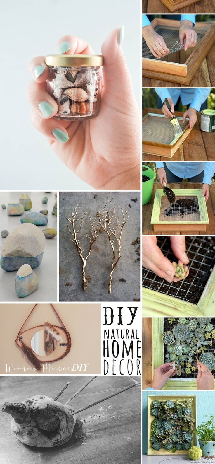Diy natural home decor diy and crafts crafts crafts for Organic home decor