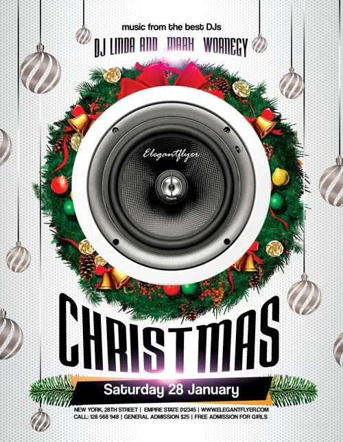 Christmas Party Free PSD Flyer Template - http://freepsdflyer.com/christmas-party-free-psd-flyer-template-2/ Enjoy downloading the Christmas Party Free PSD Flyer Template created by Elegantflyer!   #Bash, #Christmas, #Club, #Dance, #Dj, #NewYear, #Nightclub, #Nye, #Party, #Xmas