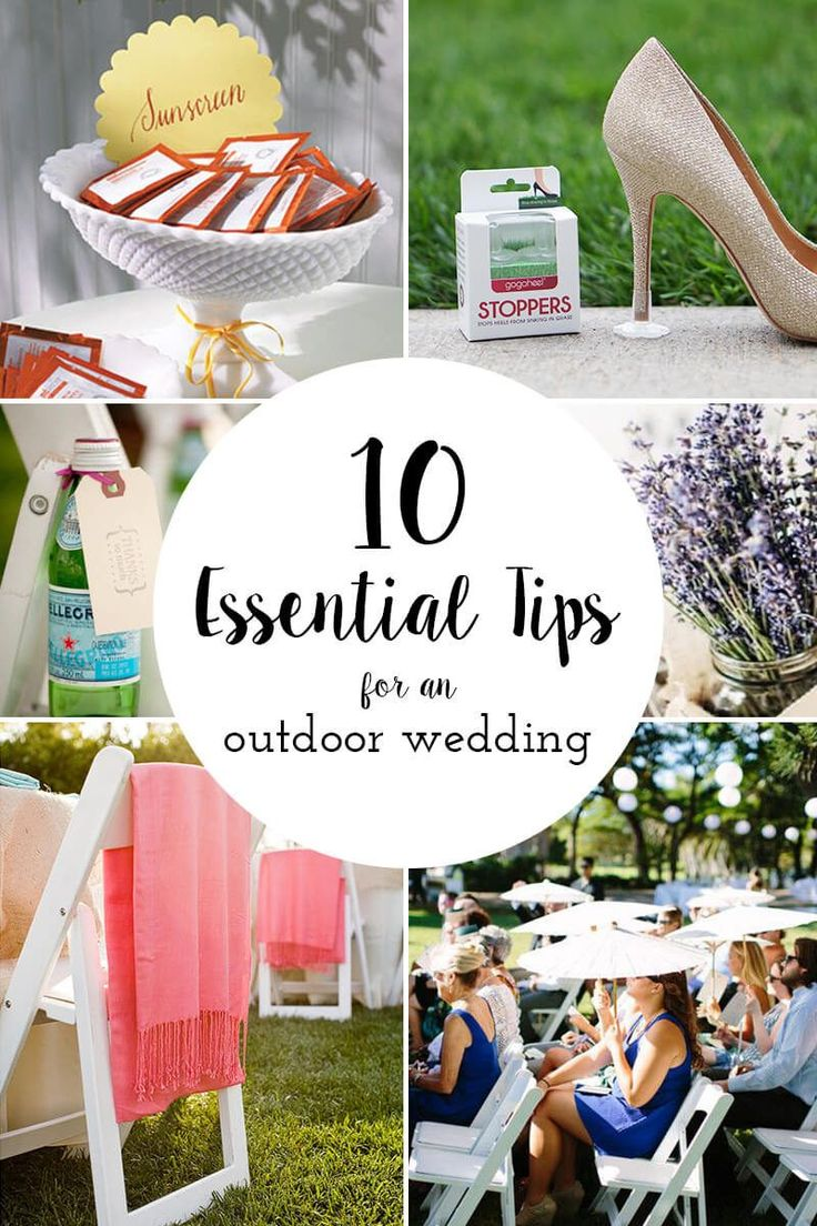 Tips and Must-Knows for your perfect outdoor wedding