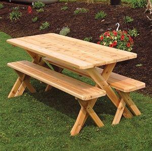 Ahşap Bahçe Masası Resmi