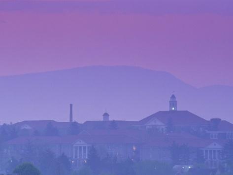 James Madison University at Dusk, Virginia