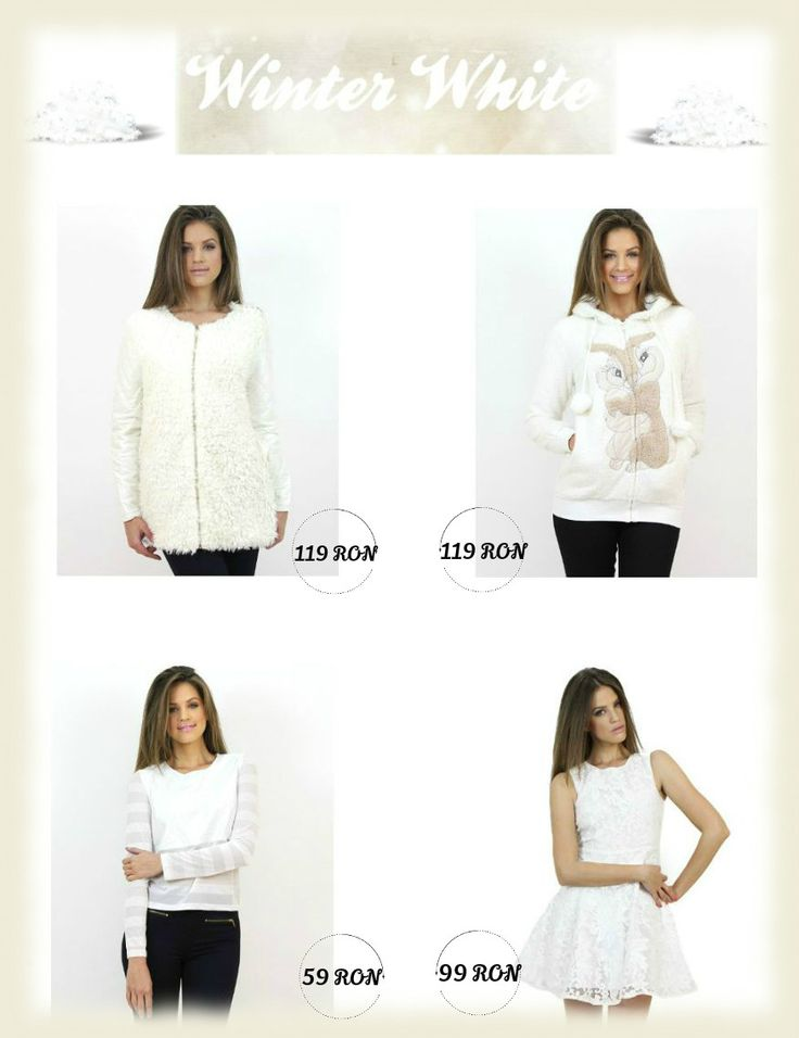 Choose your #wardrobe items according to the chromatic of the season...wear white...:) All items available at www.famevogue.ro  #fashion #winter #2015 #casual #trends