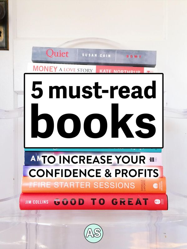 Want to know how to increase your confidence and profits in your holistic health business? Click here to find out the top 5 must-read self development and business books for women to boost your mood and business results, including chapter lengths and kick-ass quotes.