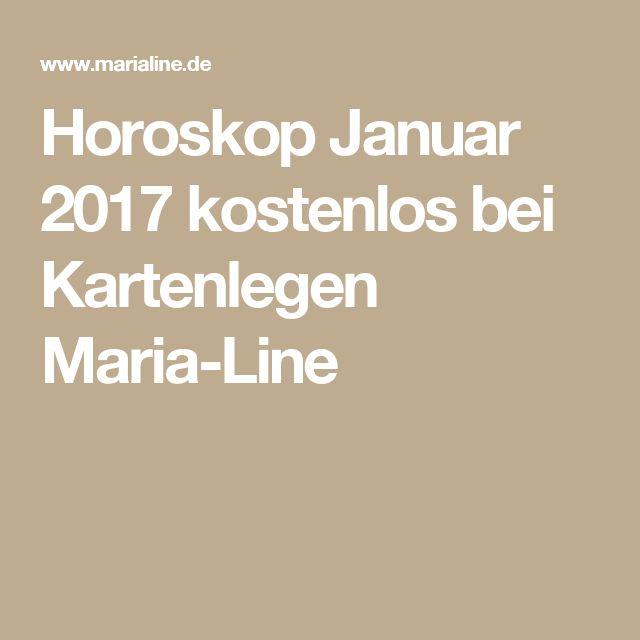 Horoskop Januar 2017 kostenlos bei Kartenlegen Maria-Line