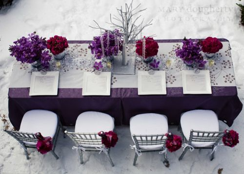 Wedding  wedding Cranberry Purple  Purple   Decor: Table runner table Wedding Inspiration,  plum