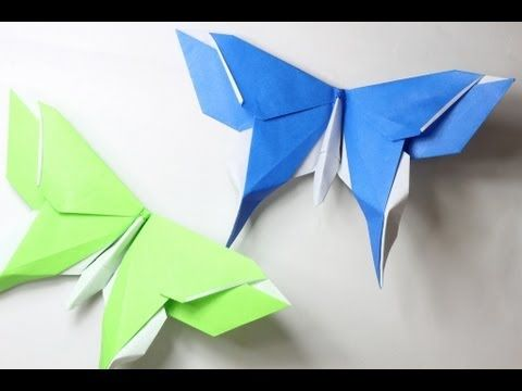‪How to make an origami Butterfly (Michael LaFosse)‬‏ - YouTube