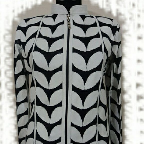 White Leather Leaf Jacket for Women Handmade Stylish Very Soft Genuine Lambskin Leather Leaf Jackets for Women / Ladies.  Just 140 USD! All Regular and Plus Sizes ( S - M - L - 1XL - 2XL - 3XL - 4XL - 5XL - 6XL - 7XL - 8XL - 9XL - 10XL ) and All Colours are Available! In Black White Red Navy Blue Orange Yellow Green Brown Purple ... 100% Made in Turkey! Returnable and Free Worldwide Shipping by Fedex! handmade  Jackets & Coats
