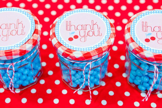 jars filled with candy!! love the colors!!