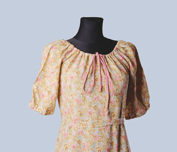 1970's dress Muoti Hovi 70s  Finnish fashion Vintage