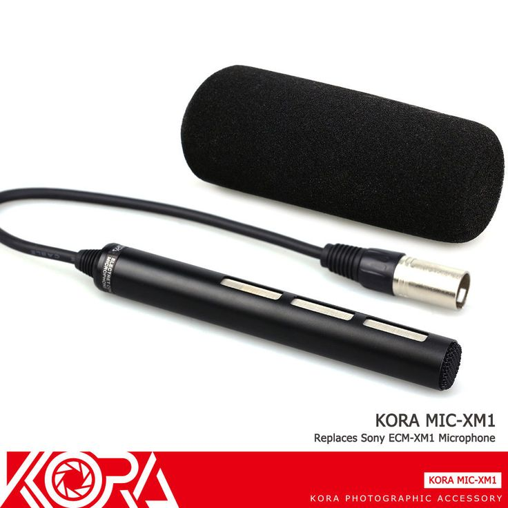 KORA Microphone For Sony DSR-PD170/170P NEX-FS700 HXR-NX3D1 HXR-NX30 as ECM-XM1 #KORA