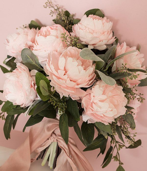 2555 best paper flowers images on pinterest paper roses diy paper peony bouquet mightylinksfo