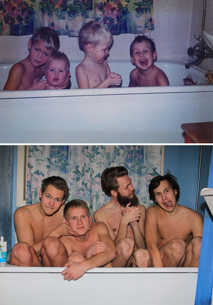 These Family Photo Recreations Are The Best Things You'll See All Day. What is Going On In #20??