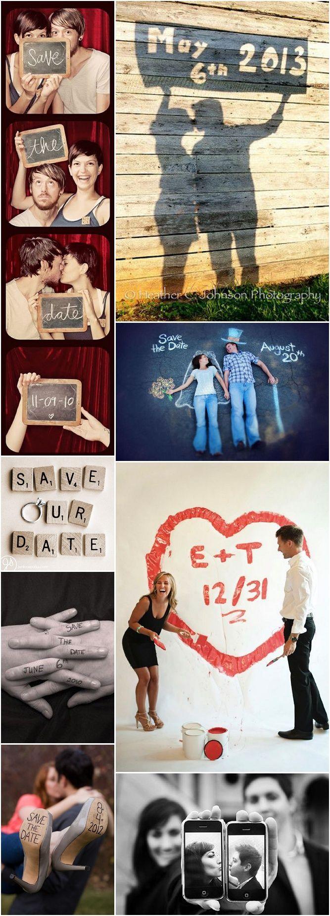 Et si vous n'avez pas de budget, voici quelques idées de save-the-date originaux à faire vous-mêmes !: