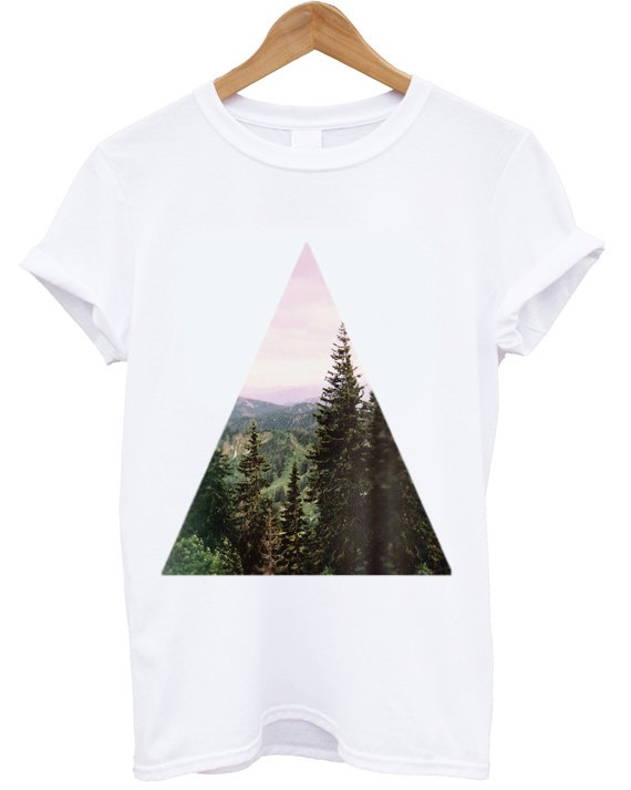 TREND T Shirt Top High Fashion T Shirt Forest by CorvinusTextiles, $25.00
