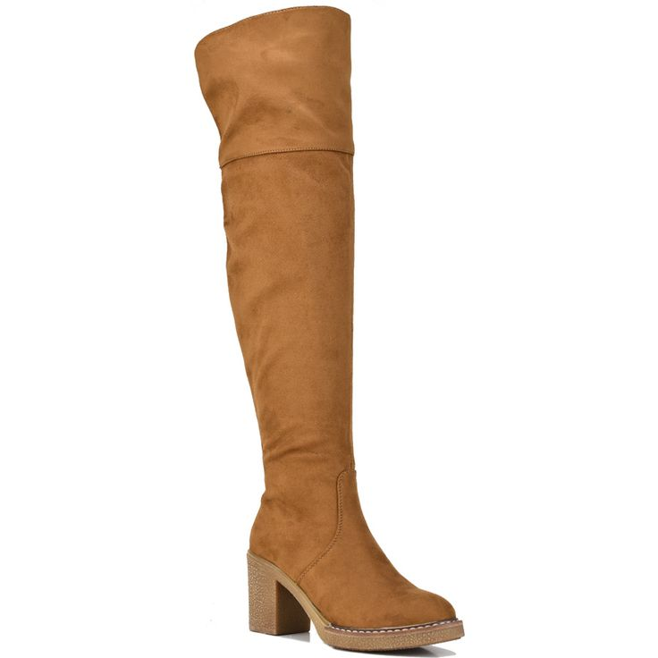 Camel over the knee boot Lets Walk JN77-16