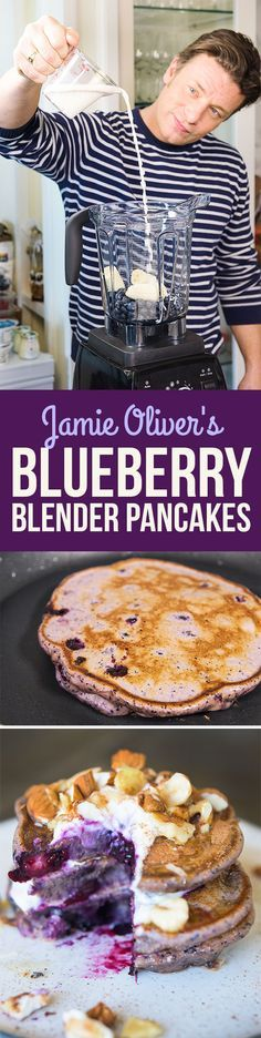 Here's How Jamie Oliver Makes Healthy Blueberry Pancakes   healthy recipe ideas @xhealthyrecipex   Blueberries
